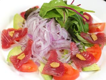 かつおとアボカドとトマトのサラダ<br>Bonito, Avocado and Tomato Salad