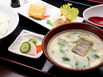 冷や汁定食<br>Hiyajiru (Cold Miso Soup Over Rice) Set Meal