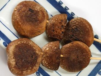 しいたけ(1本)<br>Grilled Shiitake Mushroom Skewers