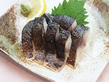 炙りしめサバ<br>Broiled Vinegared Mackerel