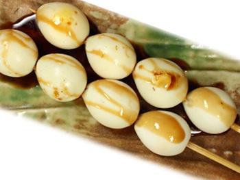うずら串(1本)<br>Grilled Quail Egg Skewers