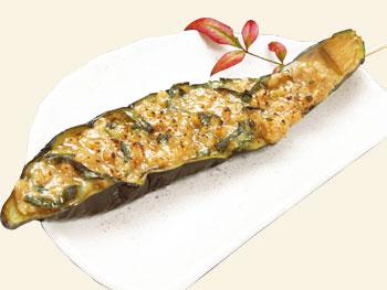ナス味噌田楽串<br>Eggplant Miso Dengaku