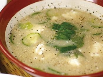 手作り冷汁<br>Handmade Hiyajiru Cold Miso Soup