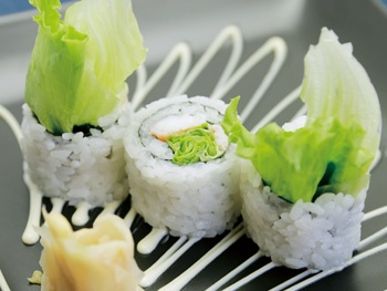 らくいオリジナル レタス巻<br>Rakui Original Lettuce Sushi Roll