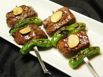 特選宮崎牛串<br>Specially selected Miyazaki Beef