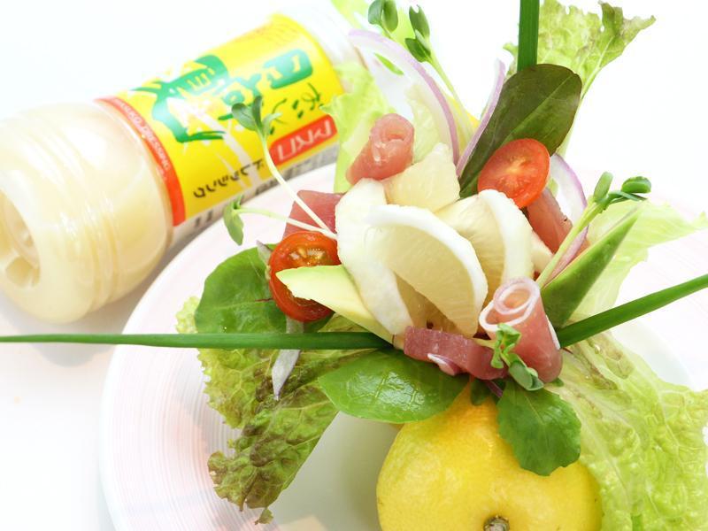 【素材×素材サラダ】日向夏サラダ