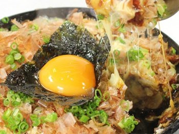 チーズ山芋鉄板焼き(平日限定)<br>Japanese Style Pancake with Japanese Yam, Cabbage and Cheese