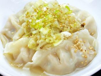 つるっと美味茹で餃子(5ヶ)<br>Delicious Boiled Gyoza with Green onion