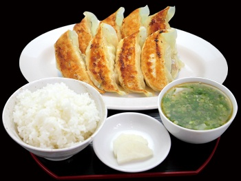 肉汁餃子定食<br>Juicy Gyoza Set meal