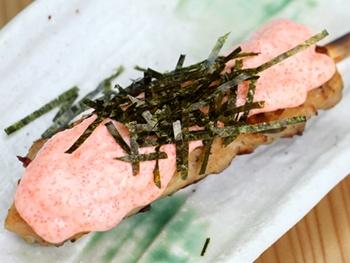 つくね 明太マヨ(1本)<br>Grilled Minced Chicken Meatball Skewers with Spicy Cod Roe and Mayonnaise