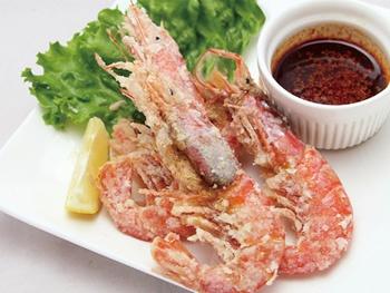 ピリ辛海老唐揚げ 3尾 <br>Deep fried Shrimp