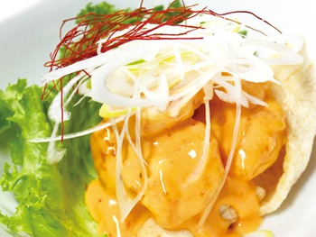 ソースたっぷりエビマヨ<br>Shrimps Mayonnaise