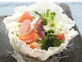 サクサク海鮮サラダ<br>Seafoods Salad