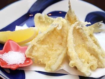 キスの天ぷら ~こだわり塩~<br>Sillago Fish Tempura