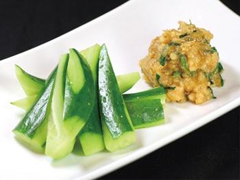 鶏油味噌のきゅうりスティック<br>Stick Cucumber