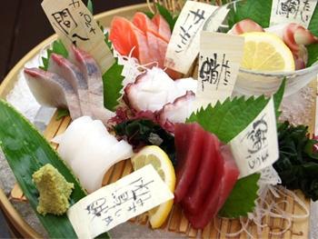 名物桶盛り<br>Sashimi  Okemori-  Sashimi in Barrel【5 types of fish】
