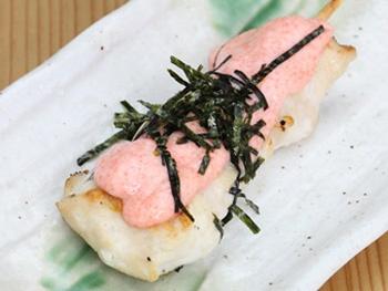 ささみ 明太マヨ(1本)<br>White Chicken with Spicy Cod Roe and Mayonnaise