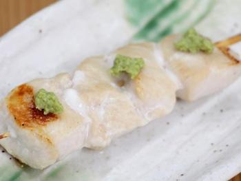 ささみ ワサビ(1本)<br>White Chicken with Wasabi (Japanese Horseradish Paste)
