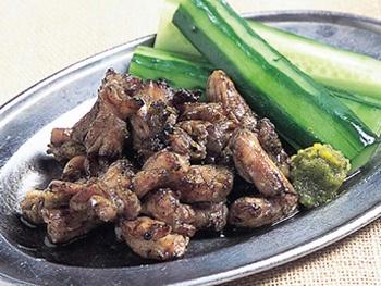 せせり炭火焼き<br>Charcoal-grilled Chicken Neck Meat