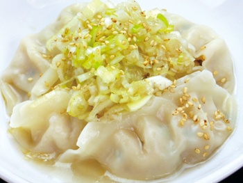 つるっと美味茹で餃子(5ヶ)<br>Delicious Boiled Gyoza with Green onion