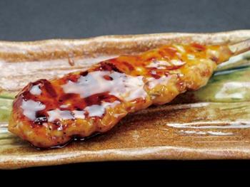 つくね(1本)<br>Grilled Minced Chicken Meatball Skewers with BBQ Sauce