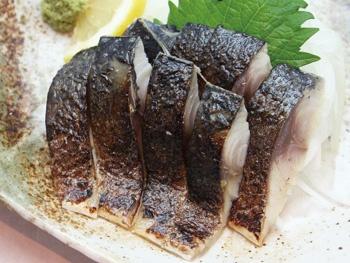 炙り〆サバ<br>Vinegared Mackerel