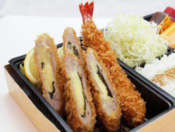8.海老フライ&チーズひれかつ弁当(海老フライ1本 チーズひれ2個)