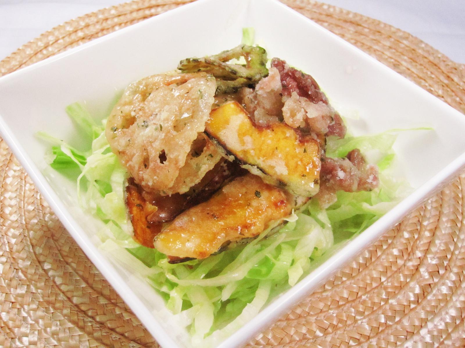 夏野菜のパリパリサラダ