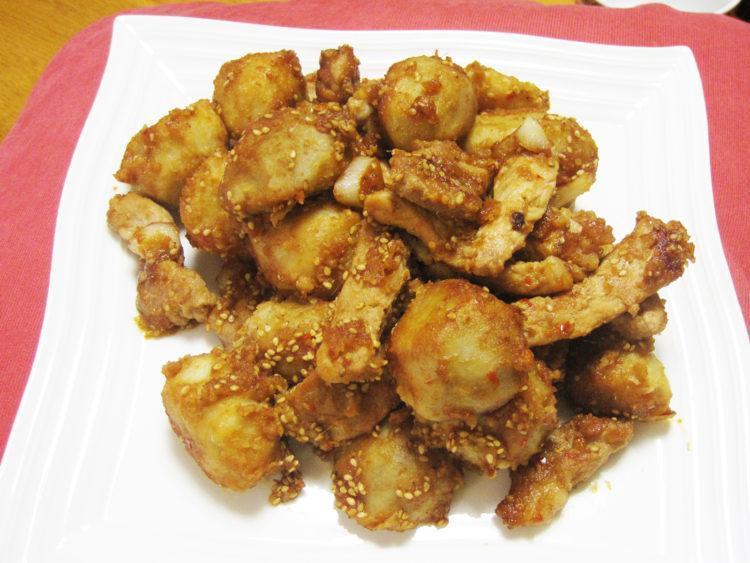 コロコロ里芋の香味炒め